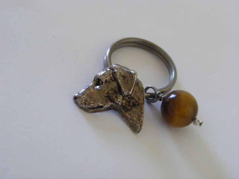 Labrador with Tiger's Eye crystal